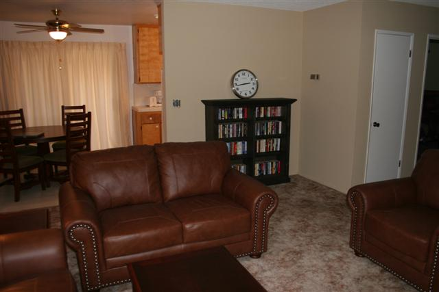 Living Room with small library